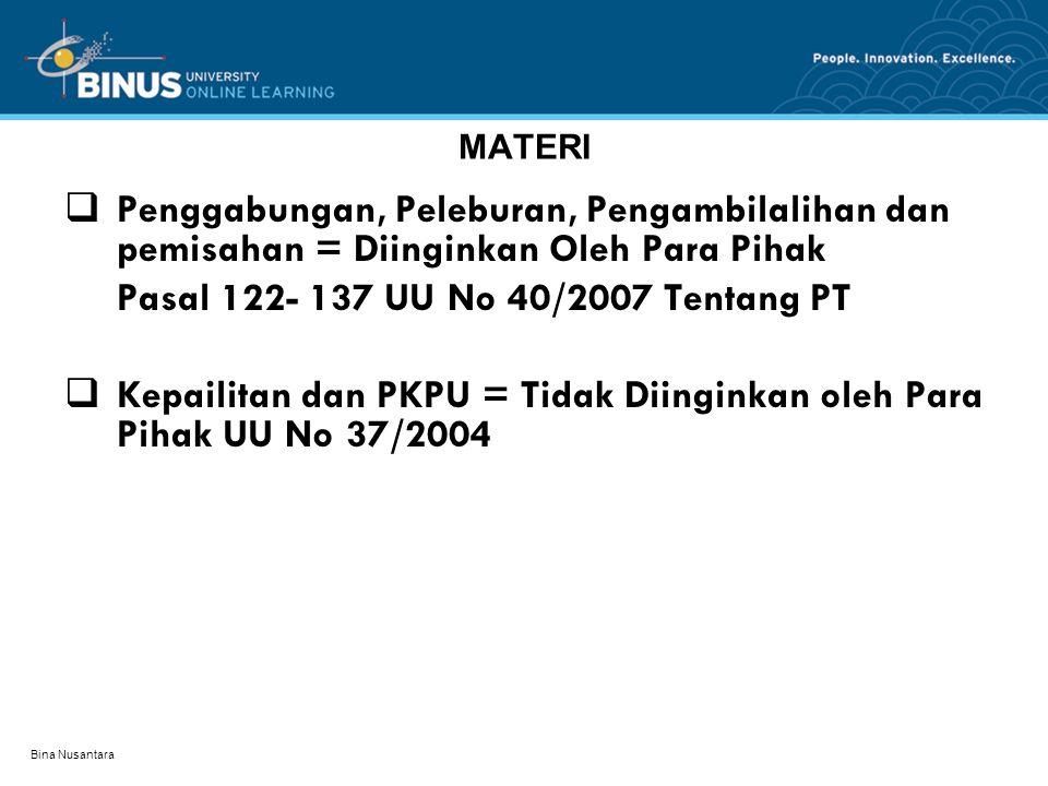 Pasal 122- 137 UU No 40/2007 Tentang PT