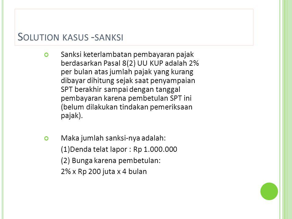 Solution kasus -sanksi