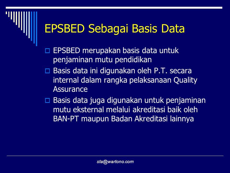 EPSBED Sebagai Basis Data