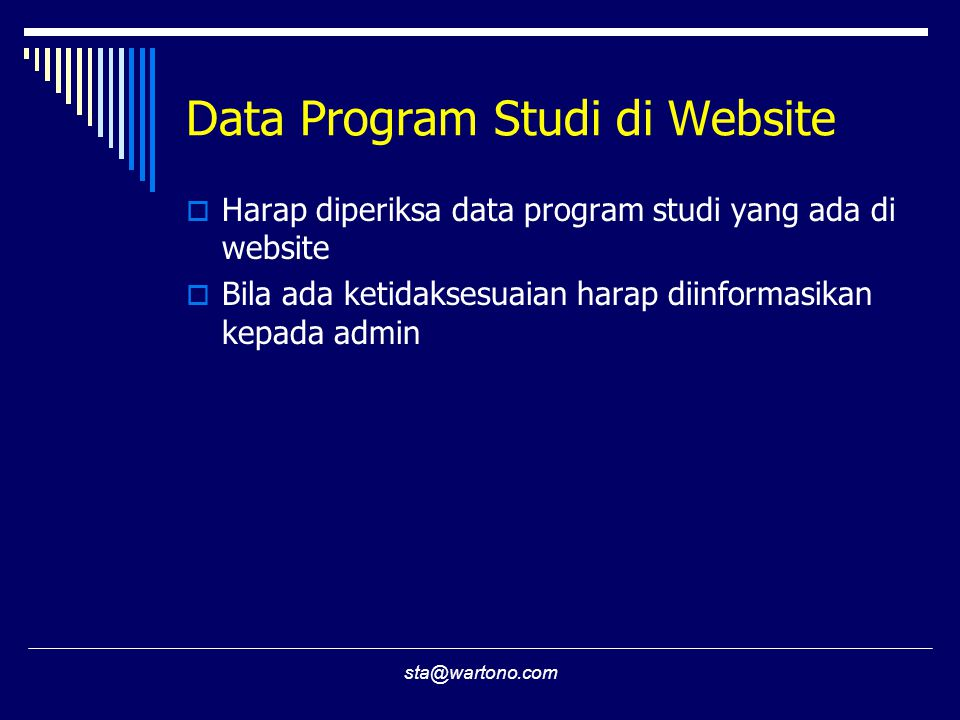 Data Program Studi di Website