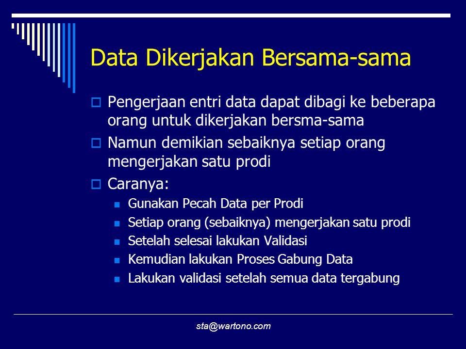 Data Dikerjakan Bersama-sama