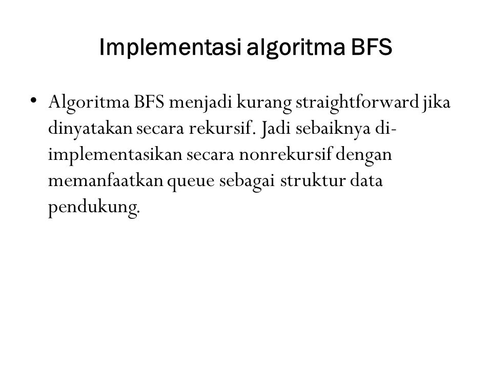 Implementasi algoritma BFS