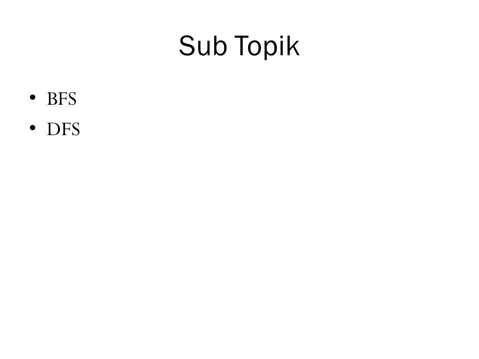 Sub Topik BFS DFS