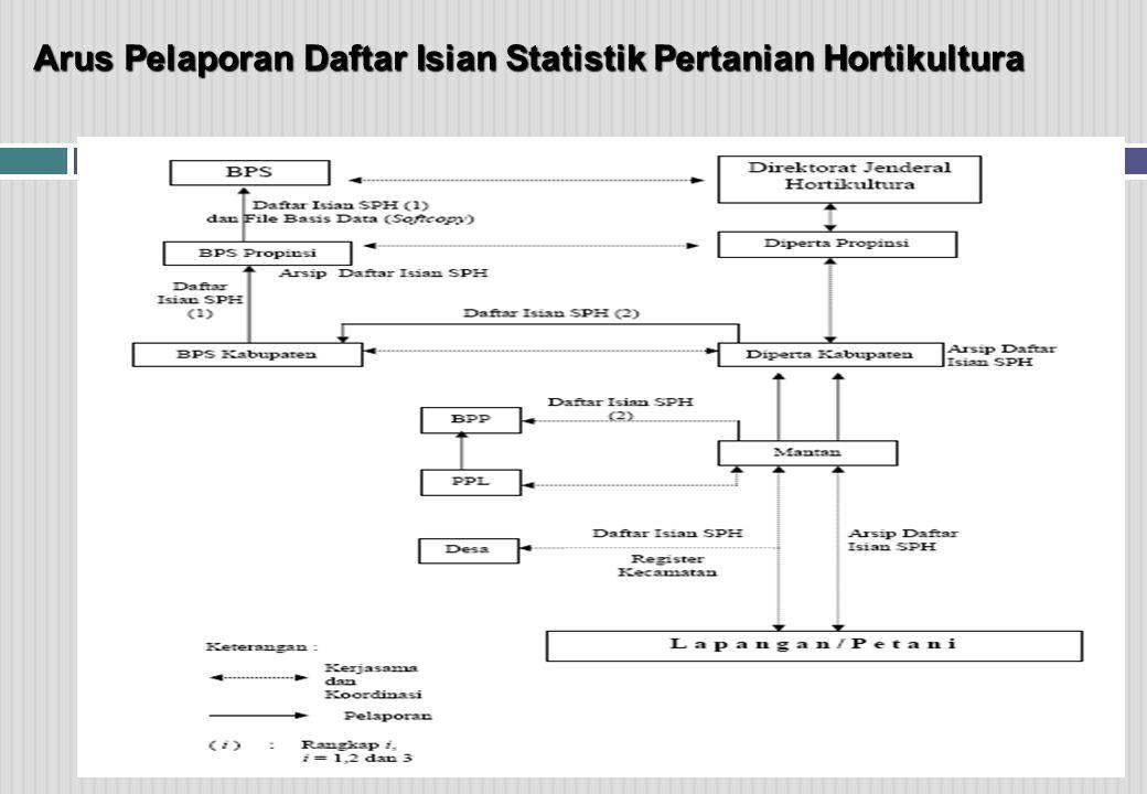Arus Pelaporan Daftar Isian Statistik Pertanian Hortikultura