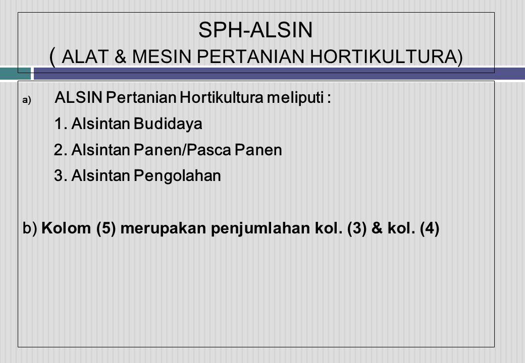 SPH-ALSIN ( ALAT & MESIN PERTANIAN HORTIKULTURA)