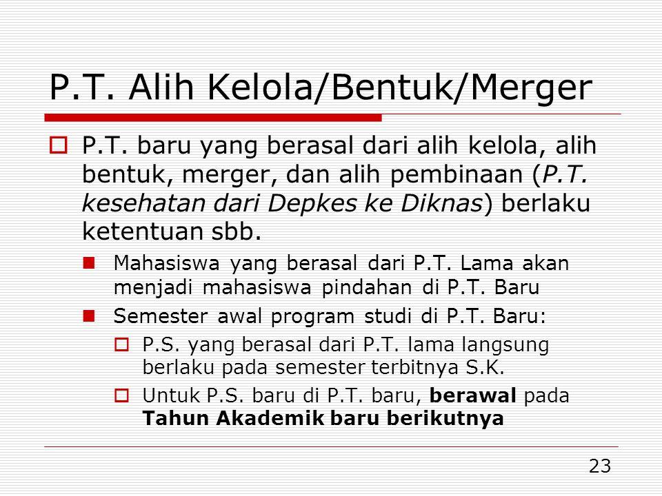 P.T. Alih Kelola/Bentuk/Merger