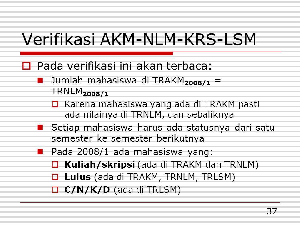 Verifikasi AKM-NLM-KRS-LSM