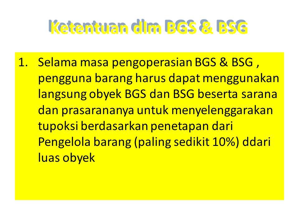 Ketentuan dlm BGS & BSG