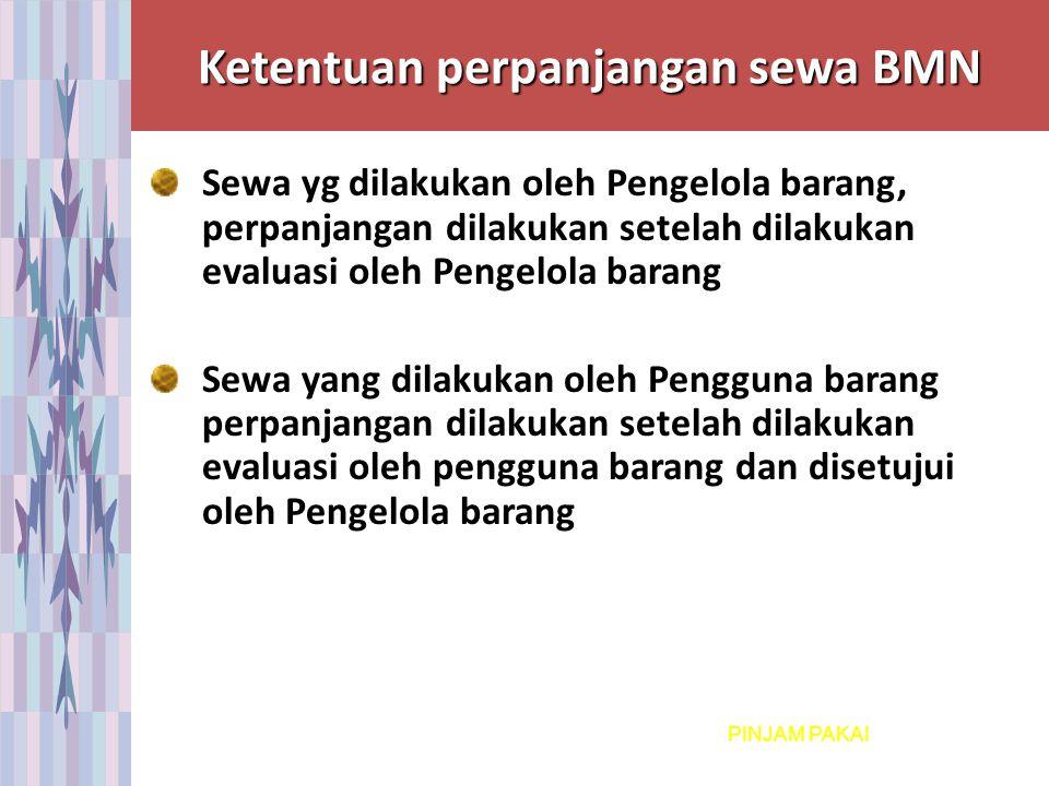Ketentuan perpanjangan sewa BMN