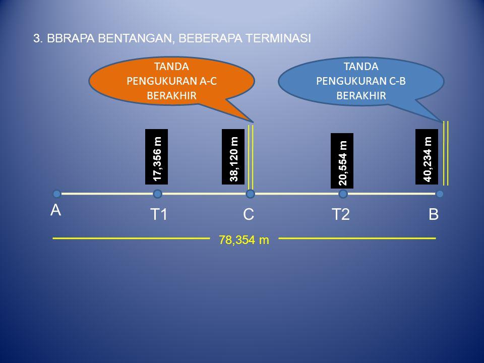 A T1 C T2 B 3. BBRAPA BENTANGAN, BEBERAPA TERMINASI