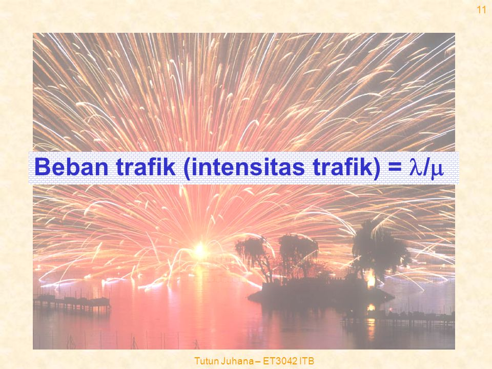 Beban trafik (intensitas trafik) = l/m