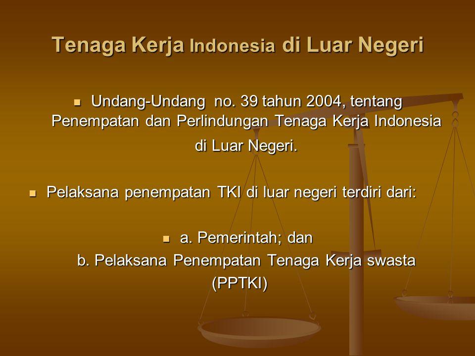 Tenaga Kerja Indonesia di Luar Negeri