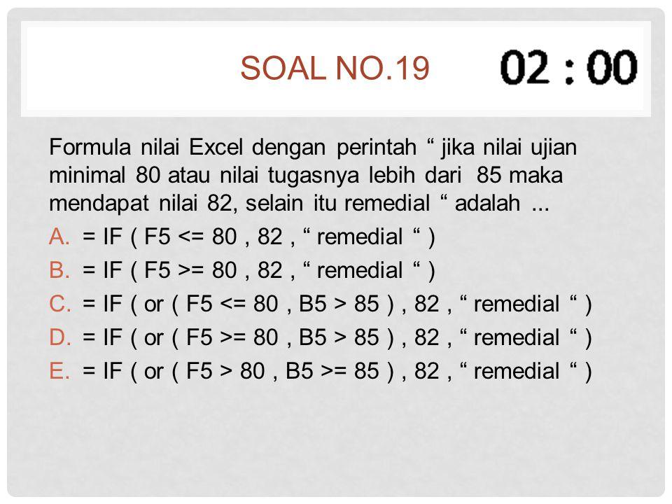 Soal no.19