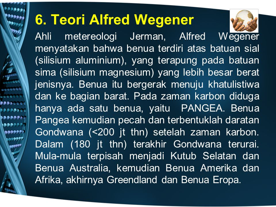 6. Teori Alfred Wegener