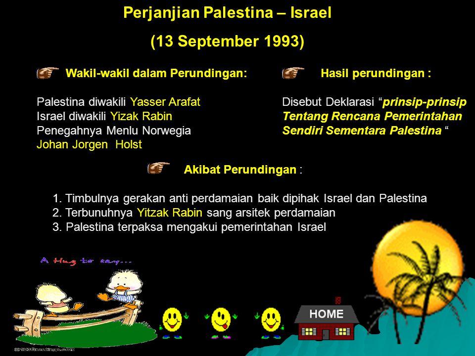 Perjanjian Palestina – Israel Wakil-wakil dalam Perundingan: