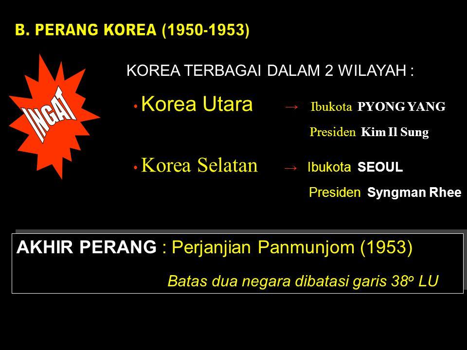 KOREA TERBAGAI DALAM 2 WILAYAH :