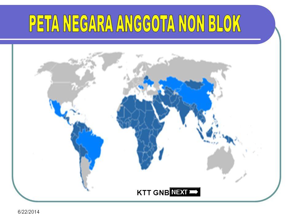 PETA NEGARA ANGGOTA NON BLOK