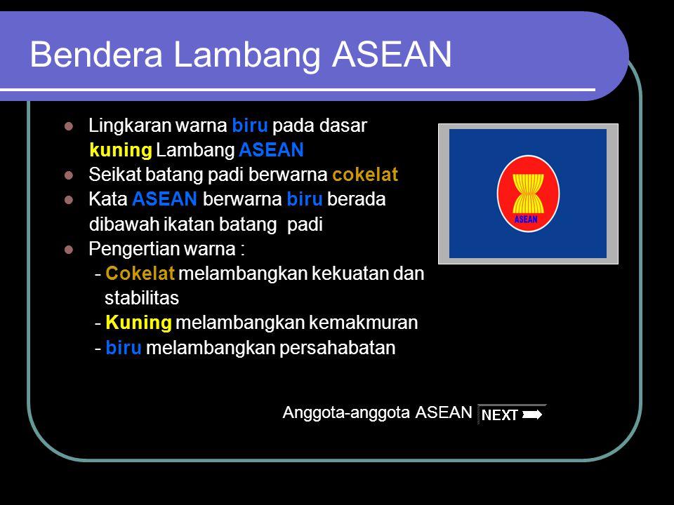 Bendera Lambang ASEAN ASEAN Lingkaran warna biru pada dasar