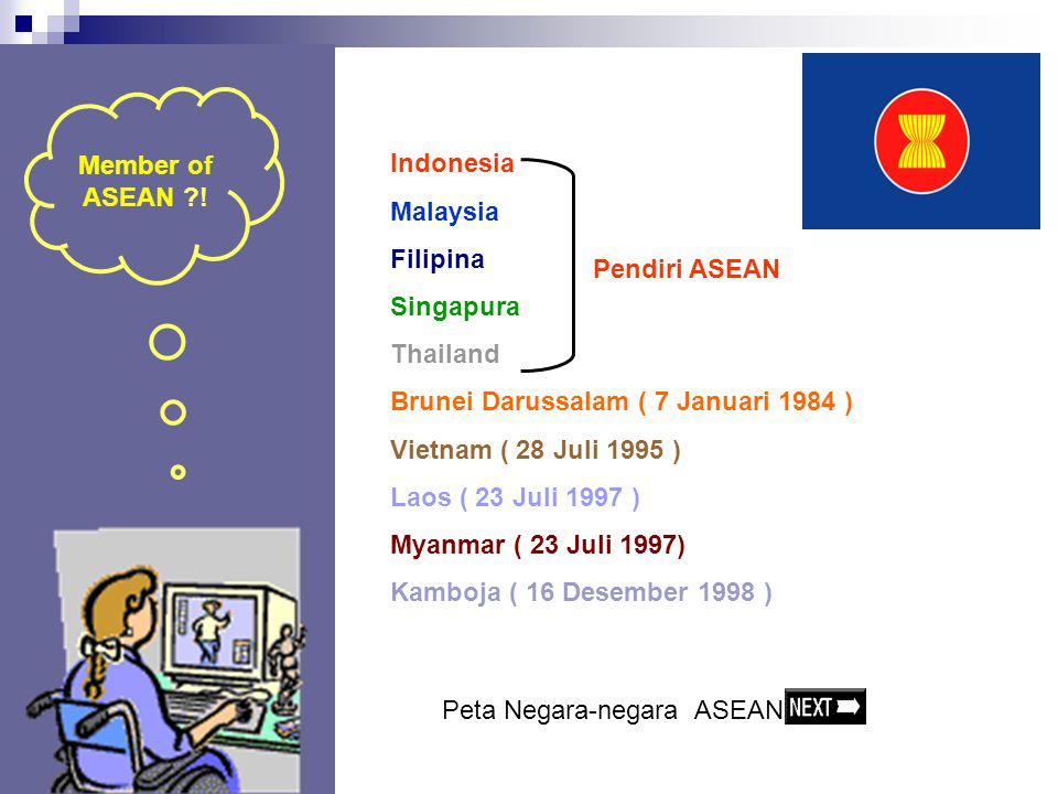 Brunei Darussalam ( 7 Januari 1984 ) Vietnam ( 28 Juli 1995 )