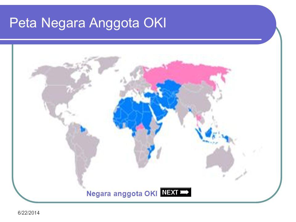 Peta Negara Anggota OKI