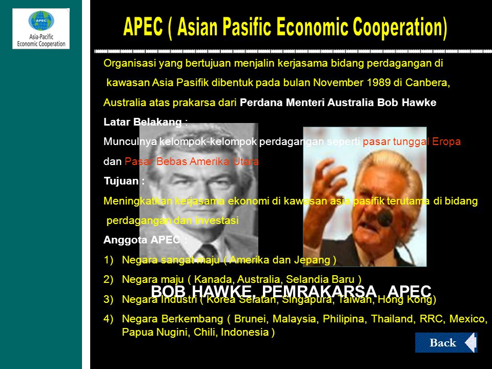 BOB HAWKE, PEMRAKARSA APEC