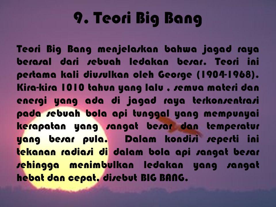 9. Teori Big Bang