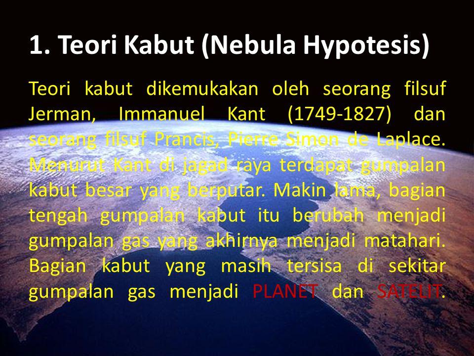 1. Teori Kabut (Nebula Hypotesis)