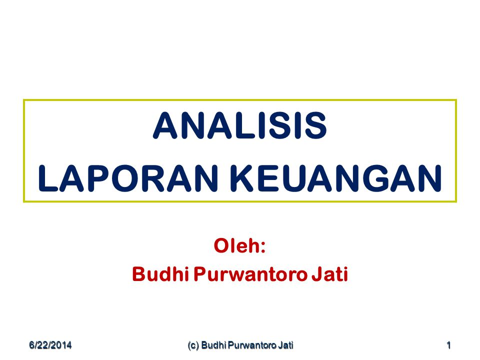 (c) Budhi Purwantoro Jati
