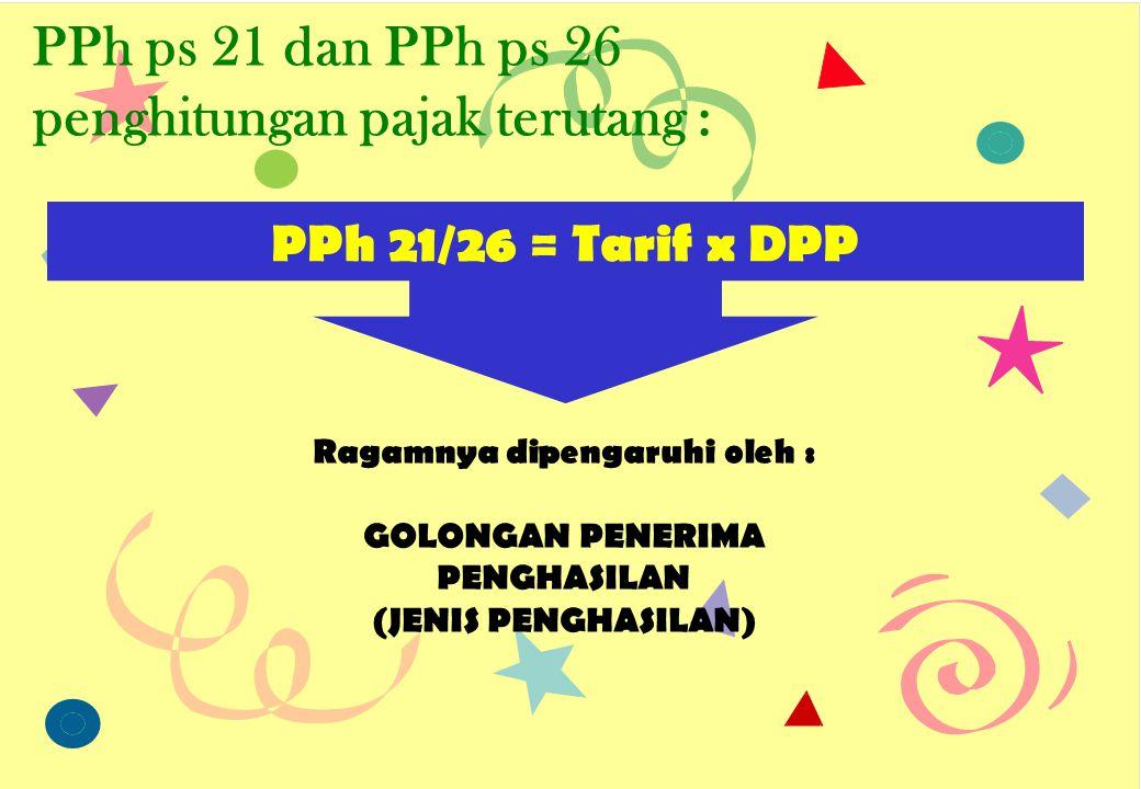 PPh ps 21 dan PPh ps 26 penghitungan pajak terutang :