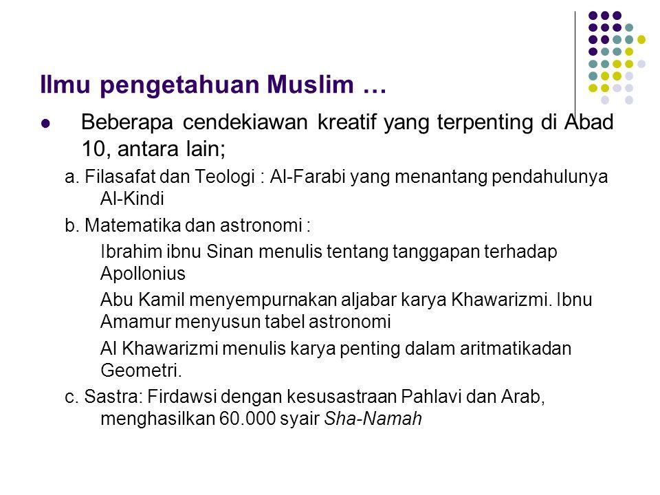 Ilmu pengetahuan Muslim …