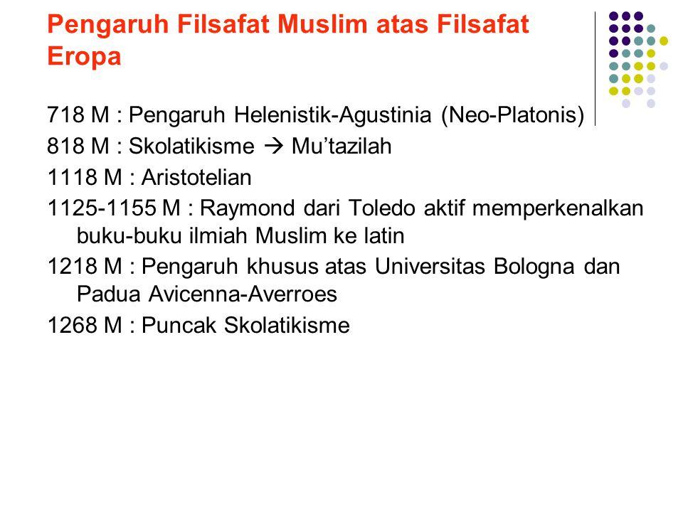 Pengaruh Filsafat Muslim atas Filsafat Eropa