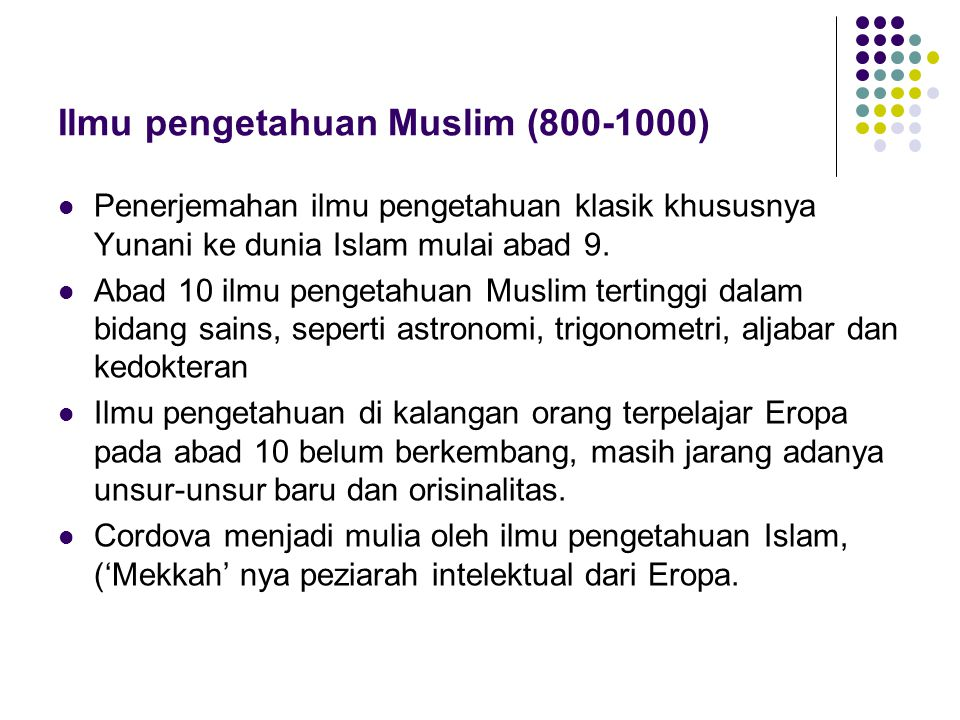 Ilmu pengetahuan Muslim (800-1000)