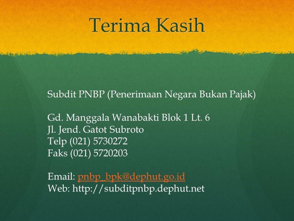Terima Kasih Subdit PNBP (Penerimaan Negara Bukan Pajak)