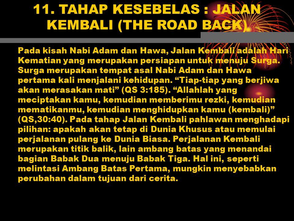 11. TAHAP KESEBELAS : JALAN KEMBALI (THE ROAD BACK)