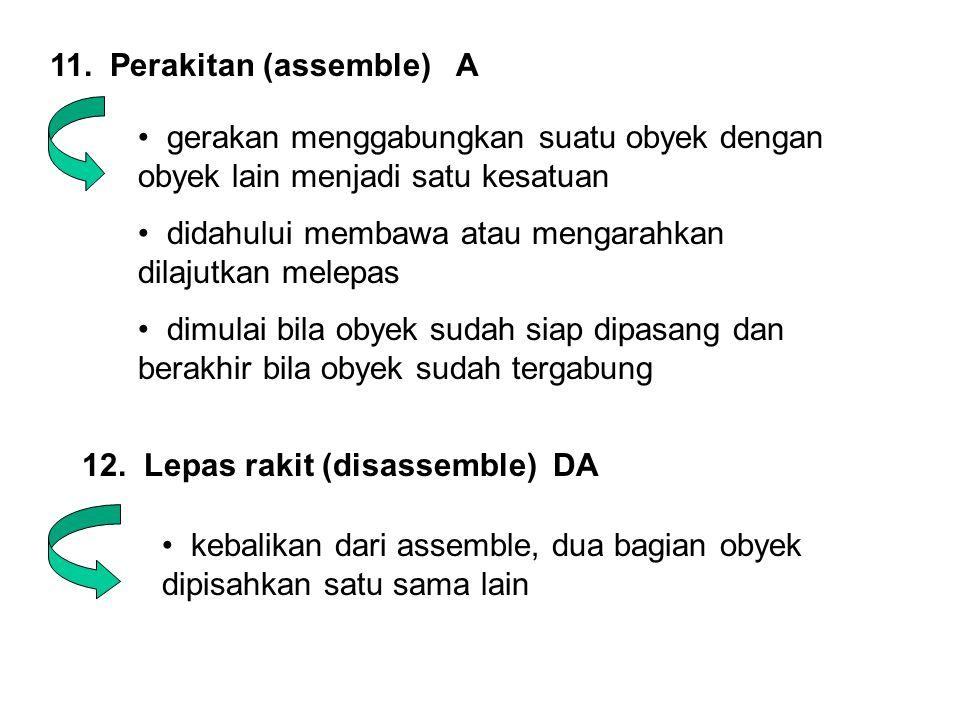 11. Perakitan (assemble) A