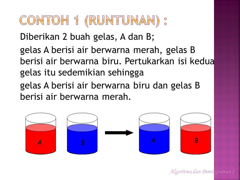 Contoh 1 (Runtunan) :