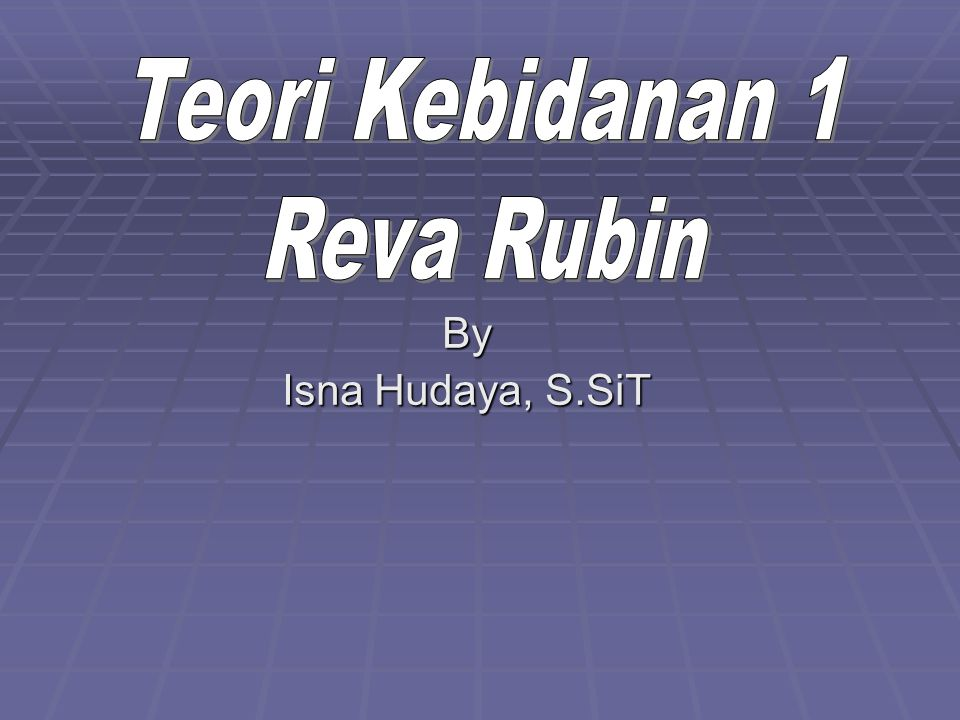 Teori Kebidanan 1 Reva Rubin By Isna Hudaya, S.SiT