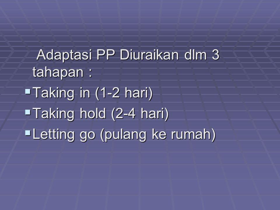 Adaptasi PP Diuraikan dlm 3 tahapan :
