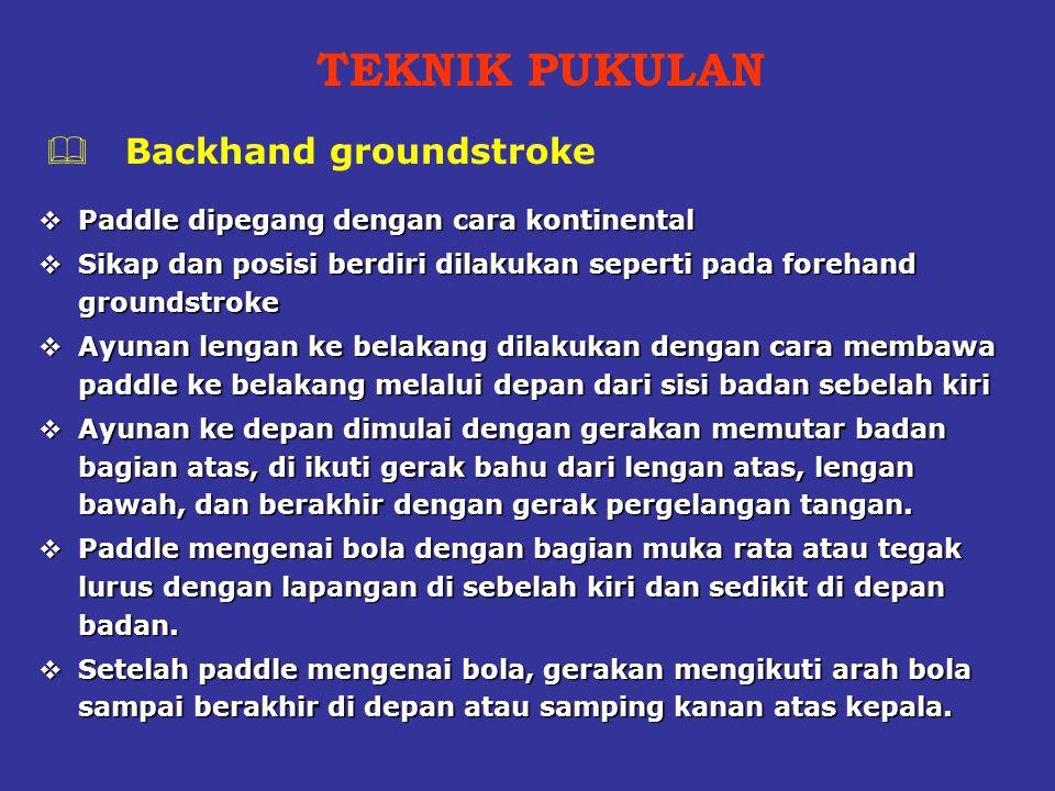 TEKNIK PUKULAN Backhand groundstroke