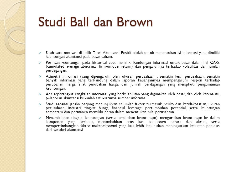 Studi Ball dan Brown
