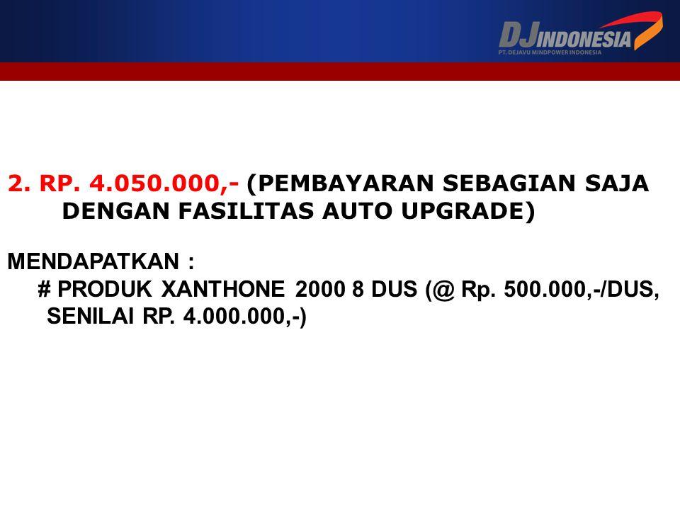 2. RP. 4.050.000,- (PEMBAYARAN SEBAGIAN SAJA