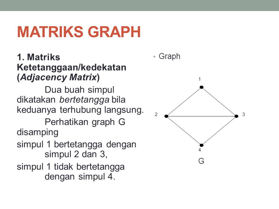 MATRIKS GRAPH
