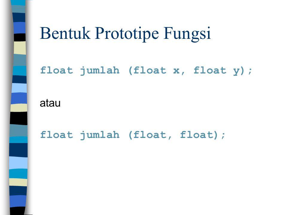 Bentuk Prototipe Fungsi