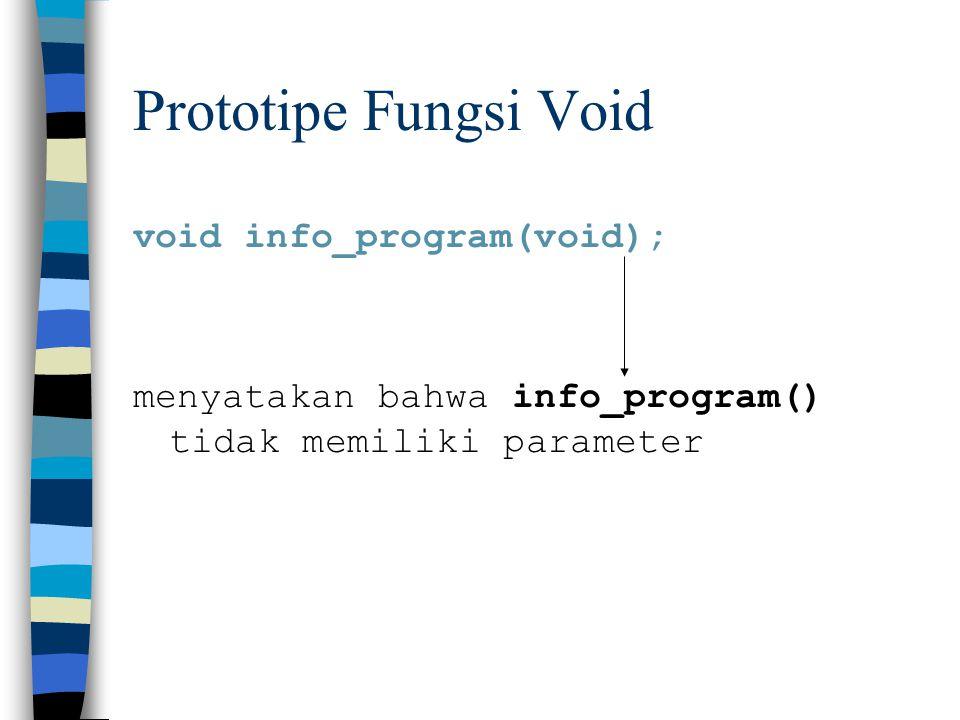 Prototipe Fungsi Void void info_program(void);