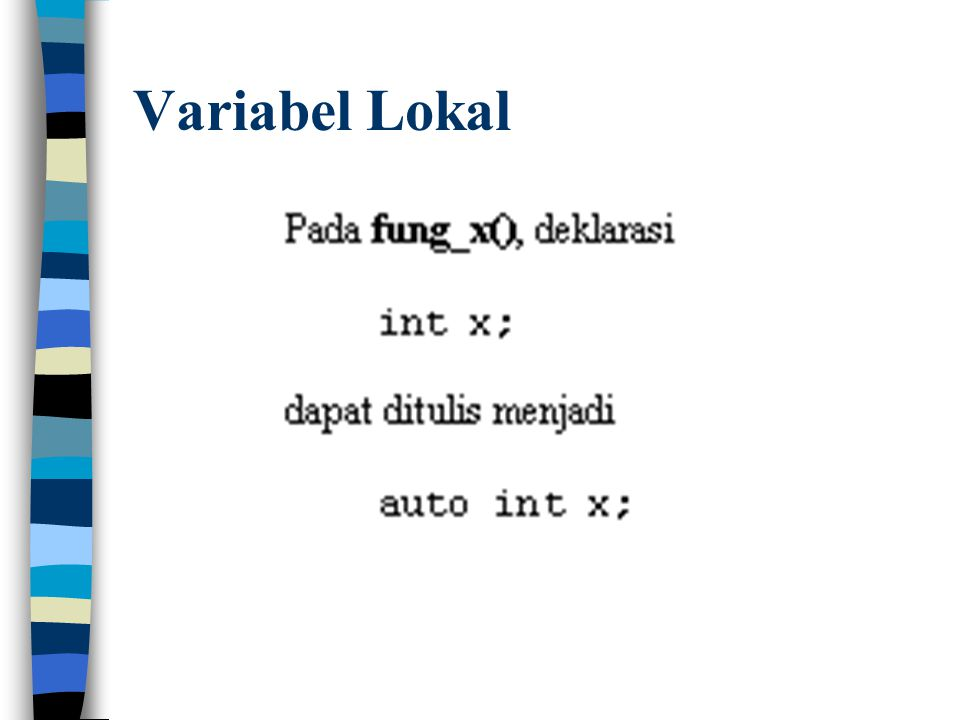 Variabel Lokal