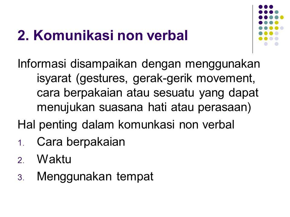 2. Komunikasi non verbal