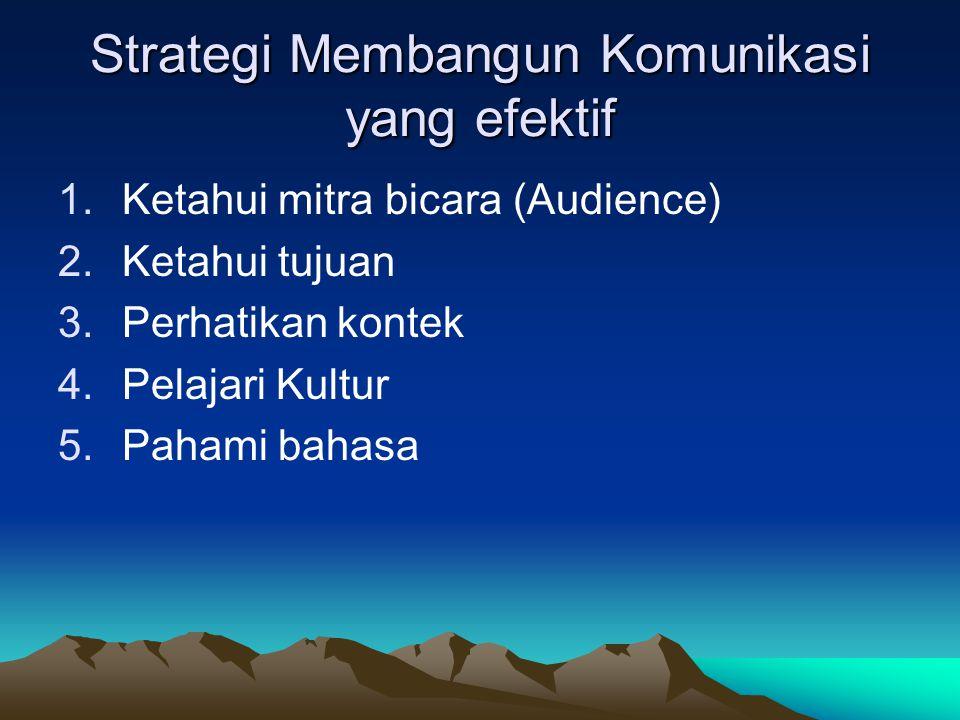Strategi Membangun Komunikasi yang efektif
