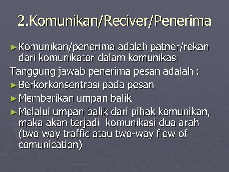 2.Komunikan/Reciver/Penerima