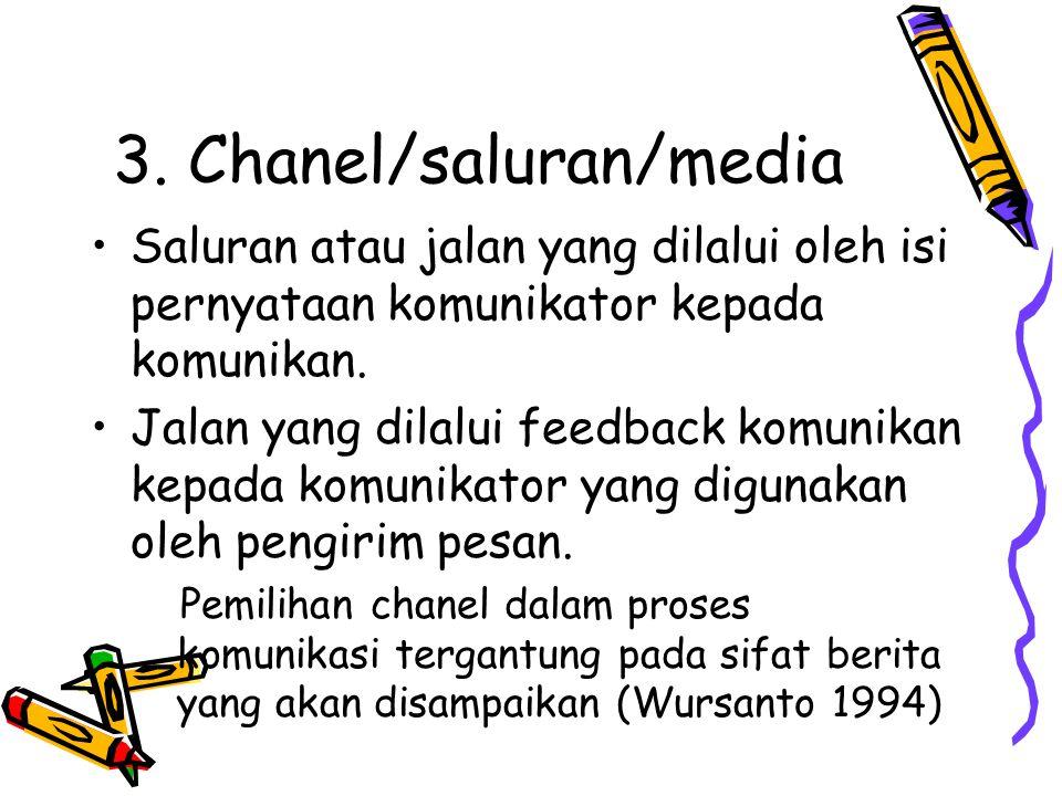 3. Chanel/saluran/media