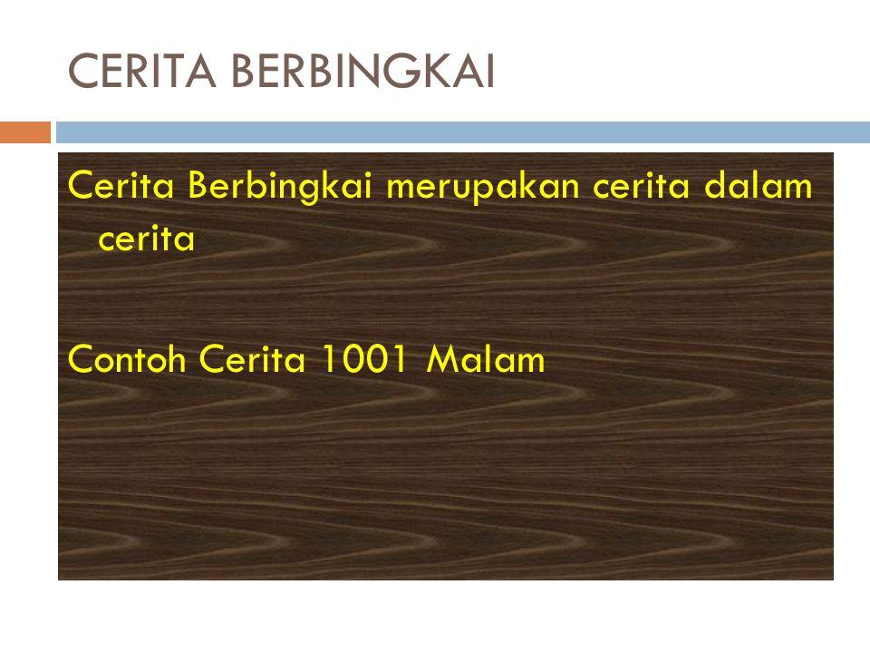 CERITA BERBINGKAI Cerita Berbingkai merupakan cerita dalam cerita Contoh Cerita 1001 Malam